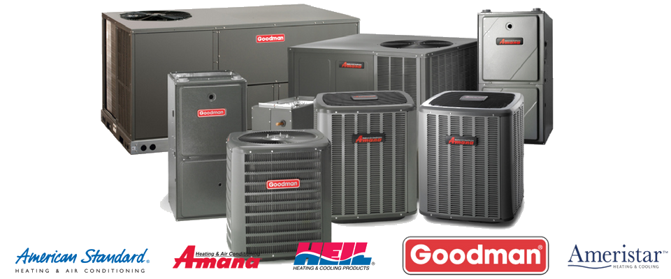 HVAC units with popular brands