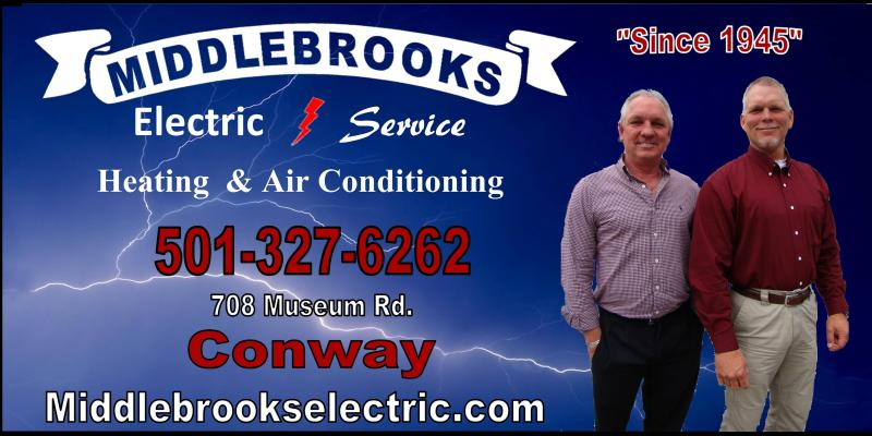 Middlebrook Electric/Heating and Air business card